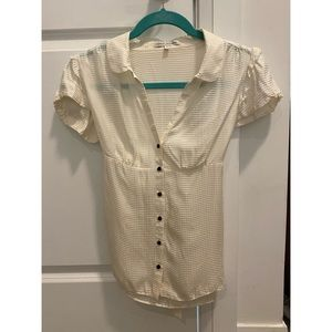 Banana Republic silk short sleeve blouse